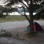 Carpa lago chico villa langostura argentina espejo angostura