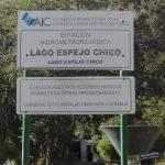 Cartel lago chico villa langostura argentina espejo angostura