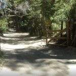 Entrada lago chico villa langostura argentina espejo angostura